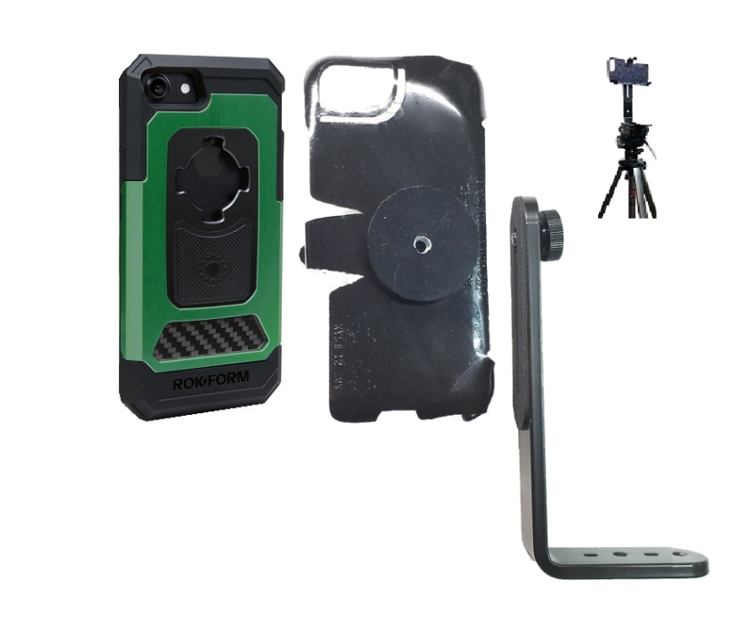 SlipGrip Tripod Mount For Apple iPhone 8 Using Rokform Fuzion Pro Case