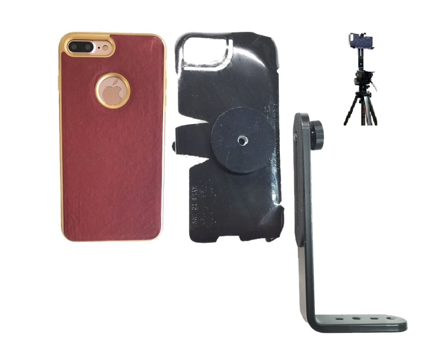 SlipGrip Tripod Mount For Apple iPhone 8 Plus Using Thermal Electro Plate Case