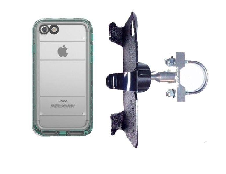 SlipGrip U-Bolt Bike Holder Designed For Apple iPhone 8 Pelican Marine WP Case
