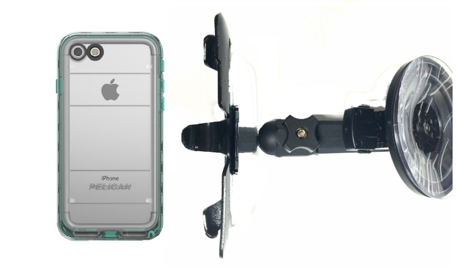 SlipGrip Car Holder Designed For Apple iPhone 8 Pelican Marine WP Case HV