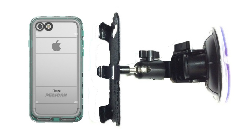 SlipGrip Car DT Holder Designed For Apple iPhone 8 Pelican Marine WP Case