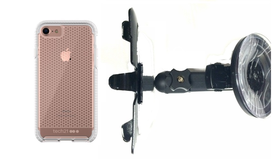 SlipGrip Car Holder Designed For Apple iPhone 8 Tech21 Evo Mesh  Case HV