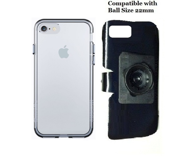SlipGrip 22mm Ball Holder For Apple iPhone 8 Using Qmadix C Series PC TPU Case