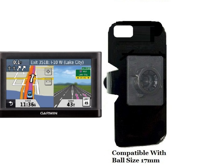 SlipGrip 17MM Holder For GPS Garmin Nuvi 52LM Naked Using No Case On