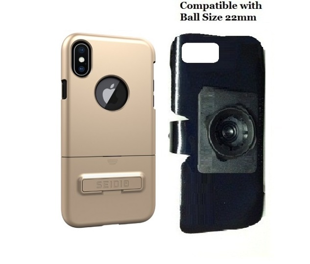 SlipGrip 22mm Ball Holder Designed For Apple iPhone X Seidio Surface Case