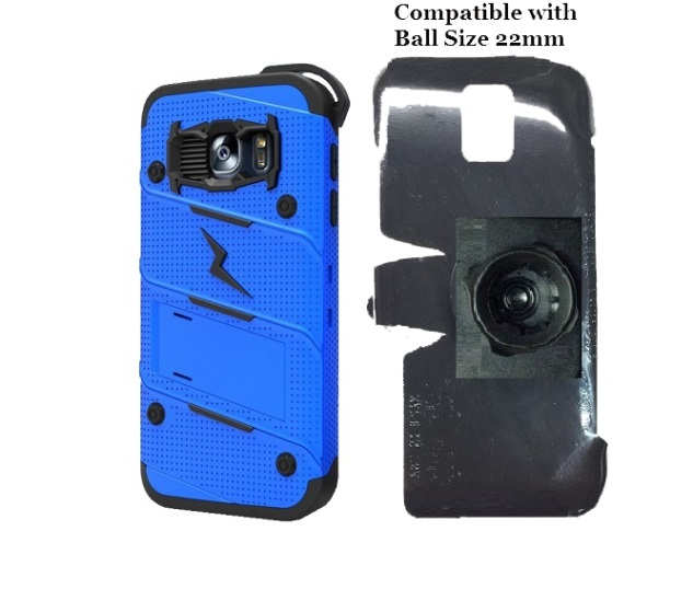 SlipGrip 22mm Ball Holder For Samsung Galaxy S7 Using Zizo Bolt Case
