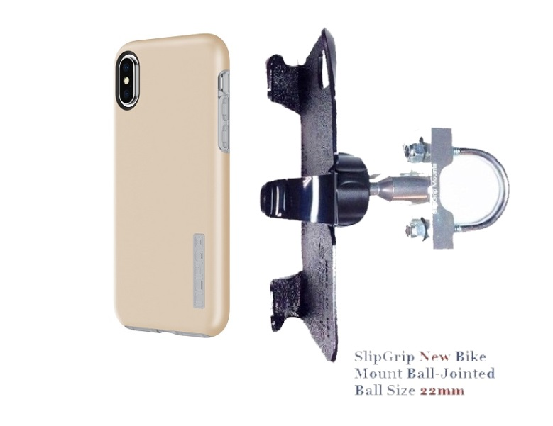 SlipGrip U-Bolt Bike Holder Designed For Apple iPhone X Incipio DualPro Case
