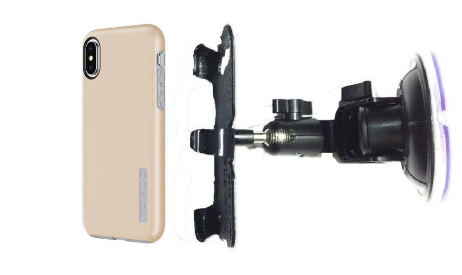 SlipGrip Car DT Holder Designed For Apple iPhone X Incipio DualPro Case