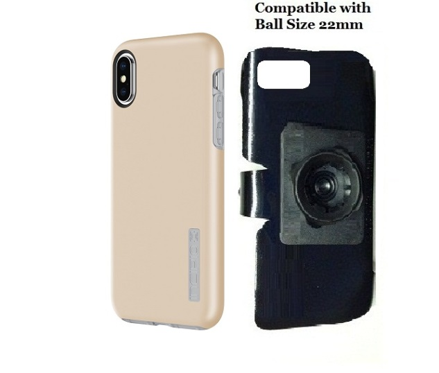 SlipGrip 22mm Ball Holder Designed For Apple iPhone X Incipio DualPro Case
