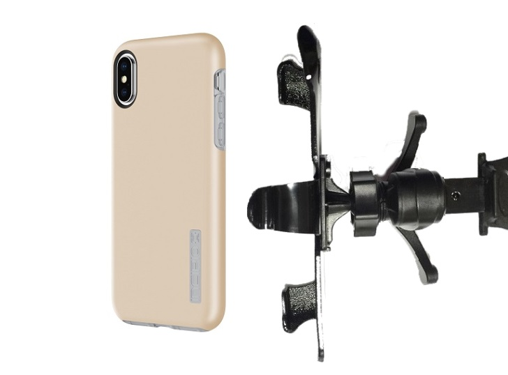 SlipGrip Vent Holder Designed For Apple iPhone X Incipio DualPro Case