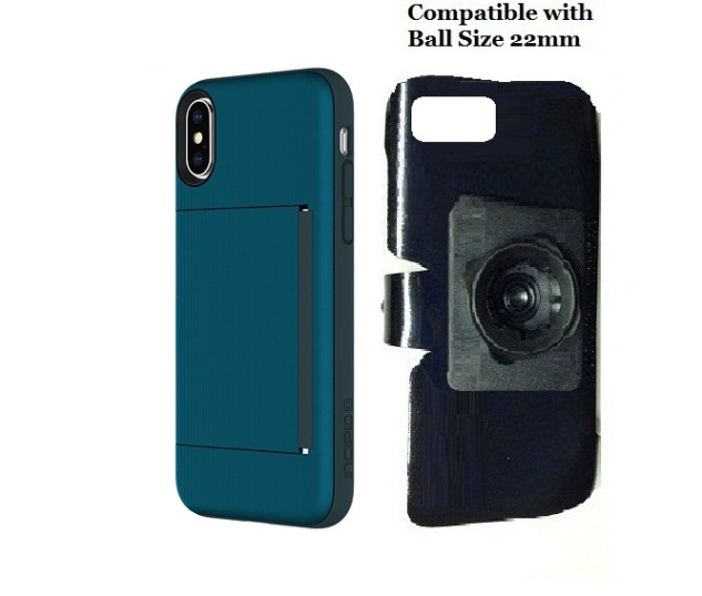 SlipGrip 22mm Ball Holder Designed For Apple iPhone X Incipio Stowaway Case
