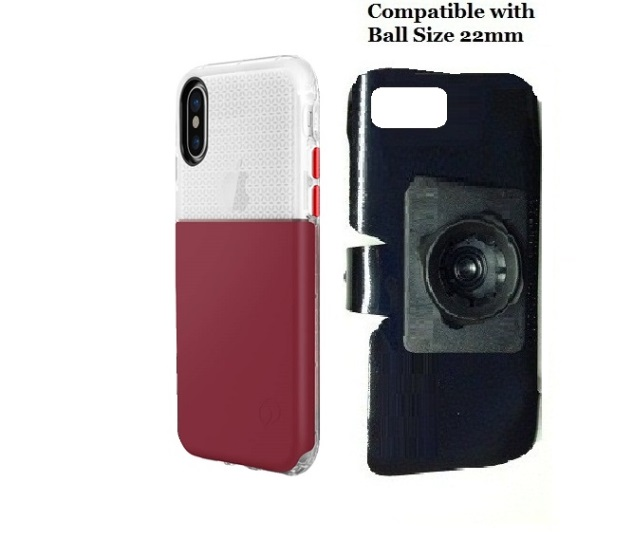 SlipGrip 22mm Ball Holder For Apple iPhone X Using Nimbus9 Ghost Case