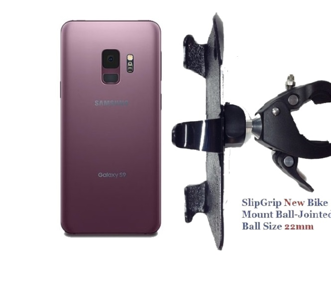 SlipGrip 1.5 Bike Holder For Samsung Galaxy S9 Naked Using No Case On