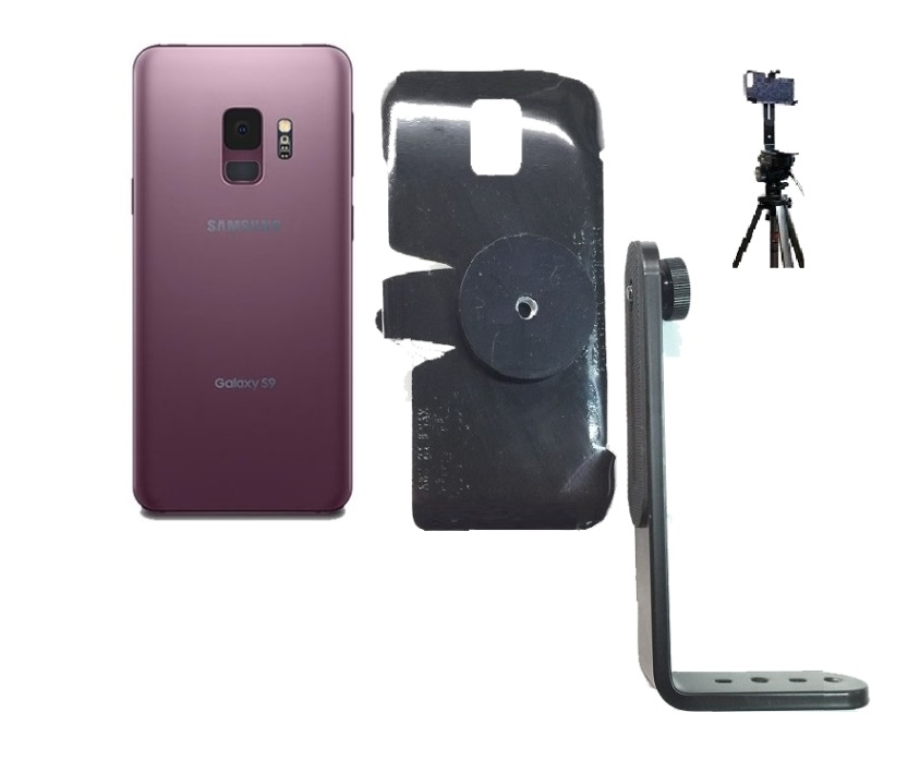 SlipGrip Tripod Mount For Samsung Galaxy S9 Naked Using No Case On