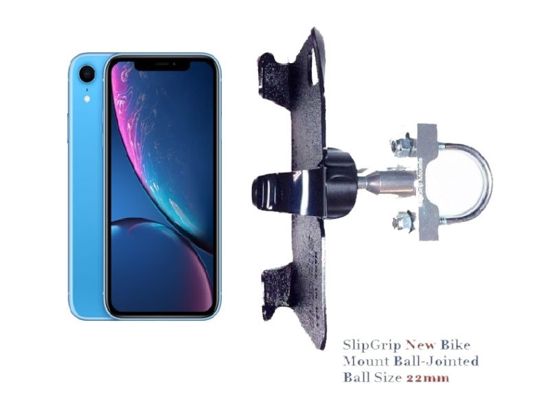 SlipGrip U-Bolt Bike Holder For Apple iPhone XR Naked Using No Case