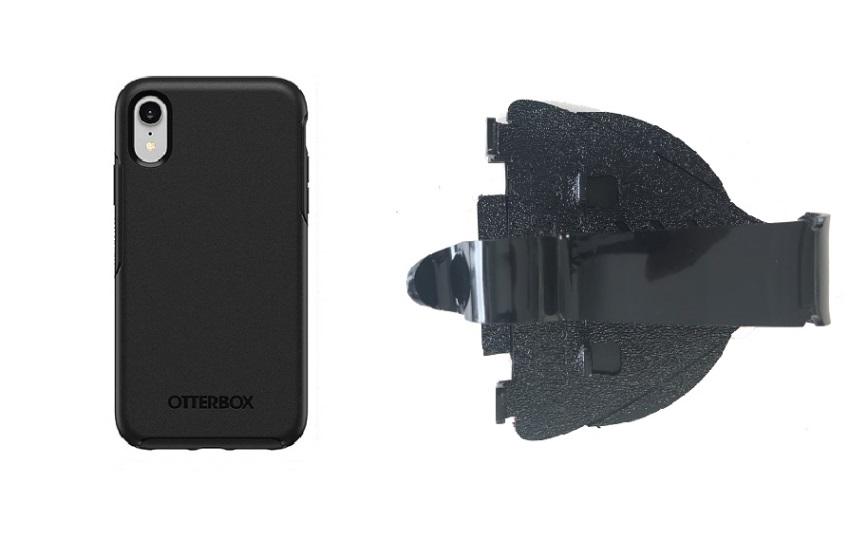 SlipGrip Car Holder for Apple iPhone XR Using Otterbox Symmetry Case HV
