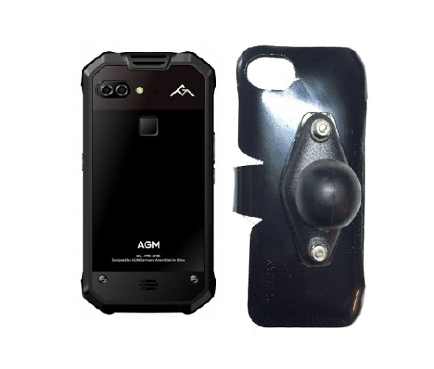 SlipGrip RAM Holder Designed For AGM X2 653 Phone Naked No Case On