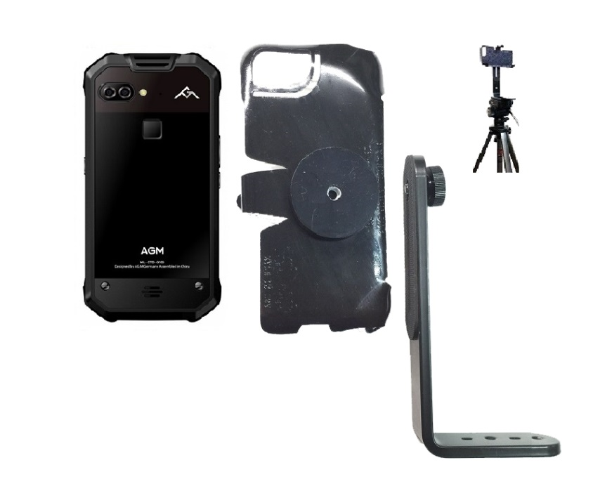 SlipGrip Tripod Mount Designed For AGM X2 653 Phone Naked No Case On