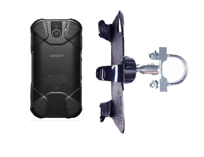SlipGrip U-Bolt Bike Holder For Kyocera DuraForce Pro 2 E6910 Naked Using No Case On