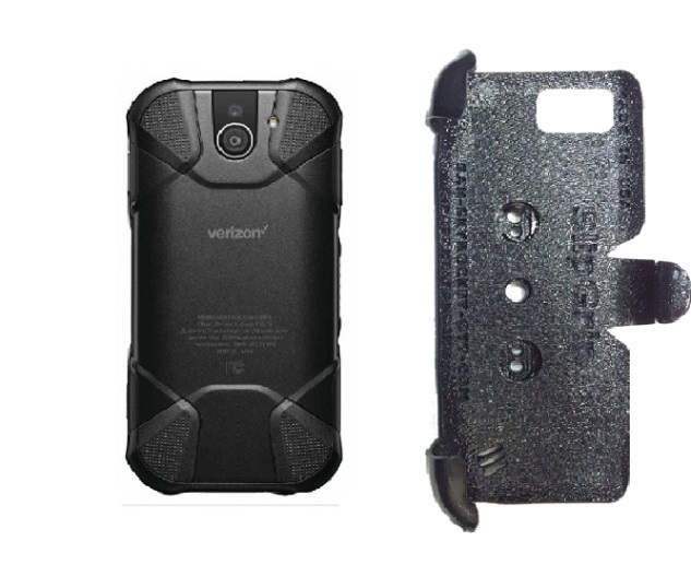 SlipGrip PRO Mounts Holder For Kyocera DuraForce Pro 2 E6910 Naked Using No Case On