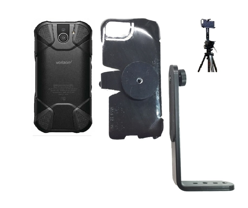 SlipGrip Tripod Mount For Kyocera DuraForce Pro 2 E6910 Naked Using No Case On
