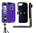 SlipGrip Tripod Mount For Apple iPhone 5 5S Using Cellairis Rapture Full Moon Case