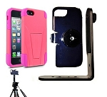 SlipGrip Tripod Mount For Apple iPhone 5 5S Using Cellairis Worrier Case