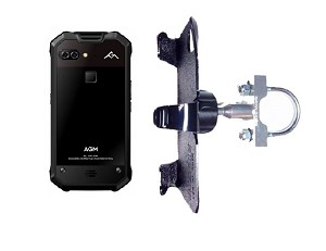 SlipGrip U-Bolt Bike Holder Designed For AGM X2 653 Phone Naked No Case On