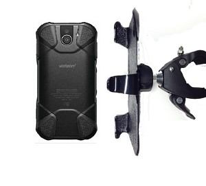 SlipGrip 1.5' Bike Holder For Kyocera DuraForce Pro 2 E6910 Naked Using No Case On'